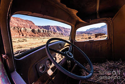 Photograph - Lees Ferry Glen Canyon Classic Car by Gary Whitton