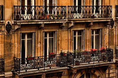 Photograph - Left Bank Balconies by Mick Burkey