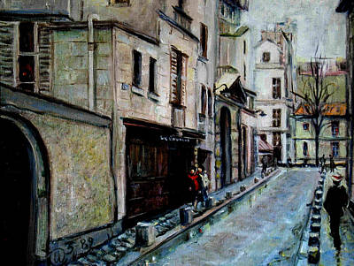 Painting - Left Bank-la Rive Gauche by Walter Casaravilla