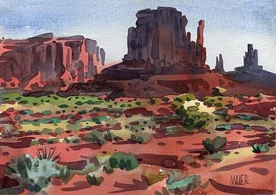 Monument Valley Painting - Left Mitten 2003 by Donald Maier