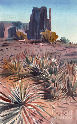 Yucca Painting - Left Mitten And Yucca by Donald Maier