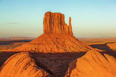 Left Mitten Sunset - Monument Valley Art Print