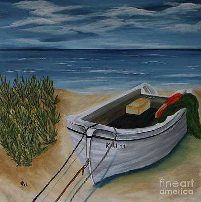 Painting - Left On The Beach by Christiane Schulze Art And Photography