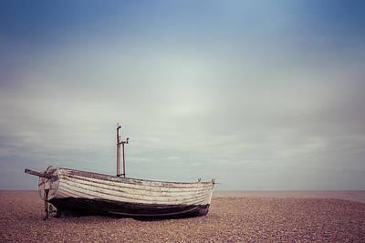 Photograph - Left On The Beach by David Warrington