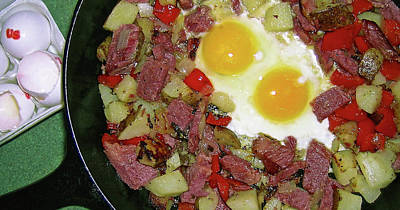 Tasting Photograph - Left Over Corned Beef Hash by James Temple