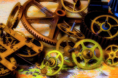 Photograph - Left Over Gears by Garry Gay
