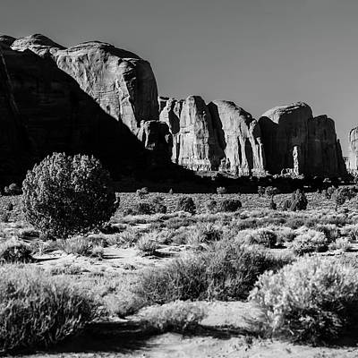 Photograph - Left Panel 1 Of 3 - Monument Valley Monolith Panorama Landscape by Gregory Ballos