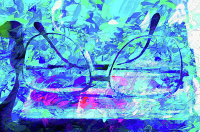 Digital Art - Left Them By The Pool by Aliceann Carlton
