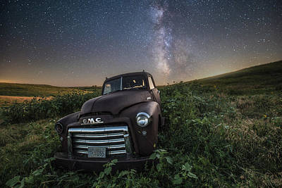 Print featuring the photograph Left To Rust by Aaron J Groen
