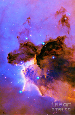 Photograph - Left - Triptych - Stellar Spire In The Eagle Nebula by Paul W Faust - Impressions of Light