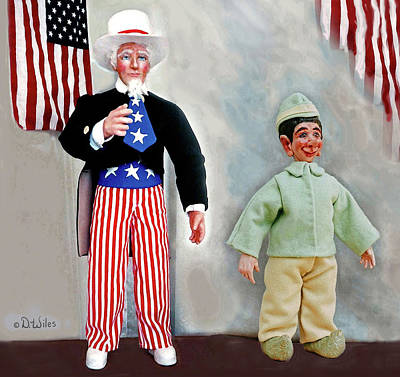 Lefty And Sam Art Print by David Wiles