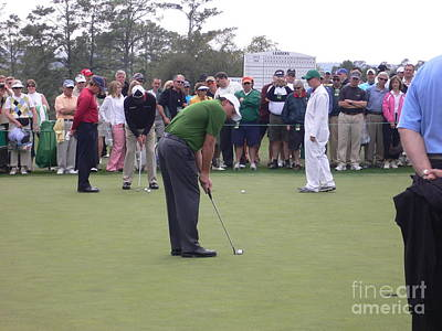 Augusta Golf Photograph - Lefty At The Putting Green by David Bearden
