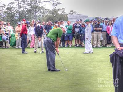 Augusta Golf Photograph - Lefty by David Bearden