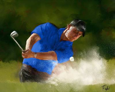 Masters Winners Painting - Lefty In Action by Colleen Taylor