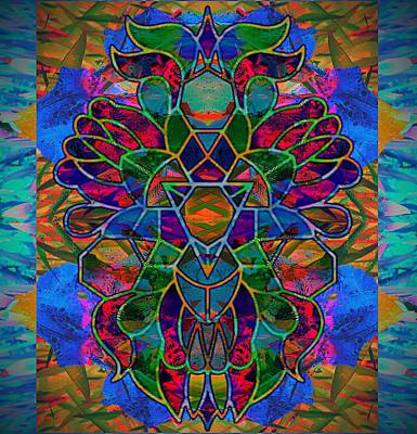 Abstract Digital Drawing - Legacy Lion Celebration1 by Trent Jackson