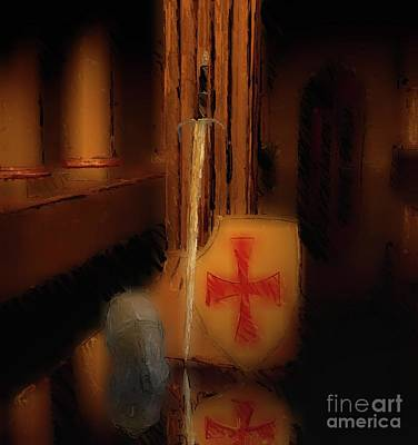 Pegasus Digital Art - Legacy Of The Knights Templar by Mary Bassett