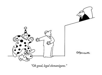 Drawing - Legal Shenanigans by Charles Barsotti