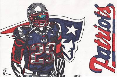Drawing - Legarrette Blount  by Jeremiah Colley