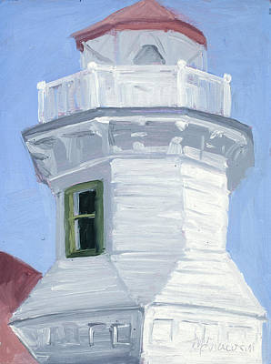 Historic Lighthouses Painting - Legend  by Mary Giacomini