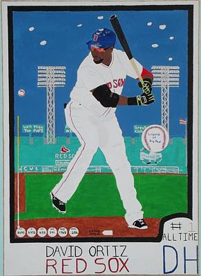 Red Sox Art Painting - Legend Of Big Papi by Dennis ONeil