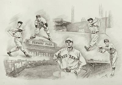 Legend Of Boston Red Sox Art Print