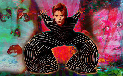 Digital Art - Legend Of Bowie  by Greg Sharpe