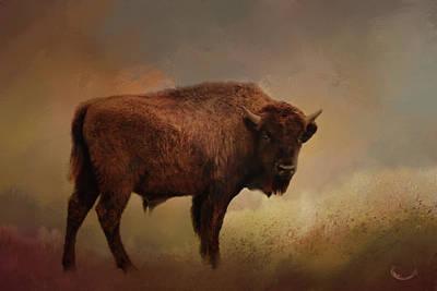 Digital Art - Legend Of Buffalo Spirit by Theresa Campbell