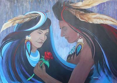Lynn Burton Wall Art - Painting - Legend Of Skidiki by Lynn Burton