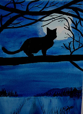 Painting - Legend Of The Black Cat  by Kimber  Butler