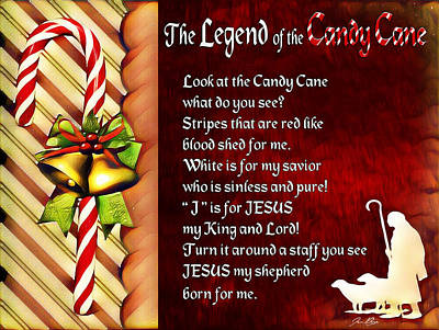 Digital Art - Legend Of The Candy Cane by Jennifer Page