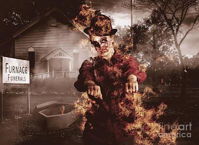 Legend Of The Furnace Funerals Fire Art Print by Jorgo Photography - Wall Art Gallery