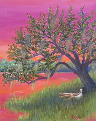Painting - Legend Of The Wind Song Of The Marsh by Pamela Poole