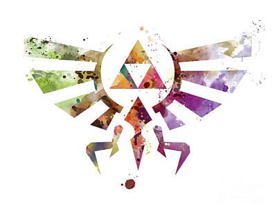 Skyward Mixed Media - Zelda by Monn Print