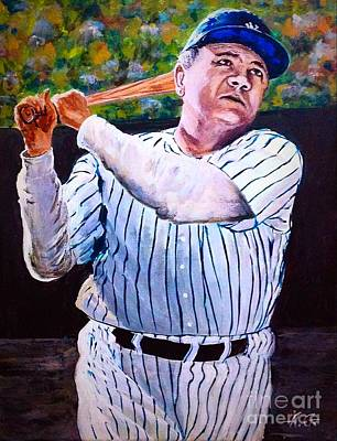 Babe Ruth Painting - Legendary Babe Ruth by Alexander Gatsaniouk