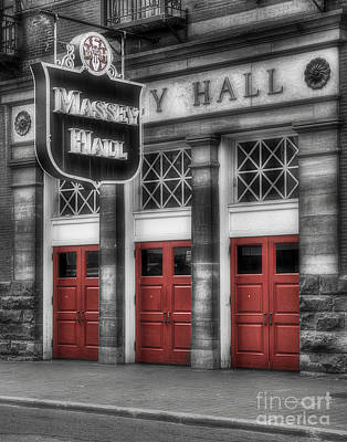 Massey Hall Wall Art - Photograph - Legendary Doors by Serge Chriqui