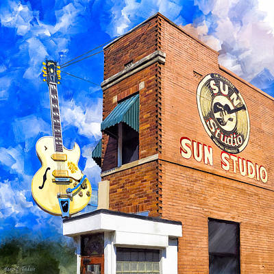 Art Print featuring the mixed media Legendary Home Of Rock N Roll by Mark Tisdale