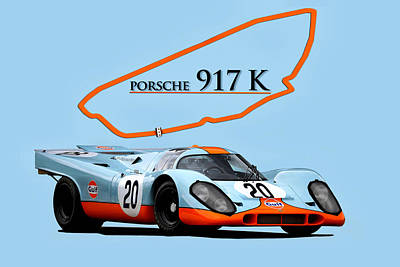 Digital Art - Legendary Porsche by Peter Chilelli