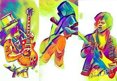 Robert Plant Digital Art - Legendary Shredders - Stage Masters by Scott D Van Osdol