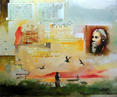 Tagore Painting - Legendary Thoughts -2 by Prakash Sree S N