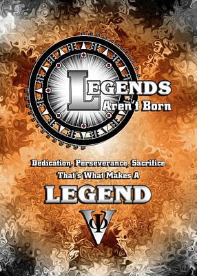 Digital Art - Legends Aren't Born by Xzendor7