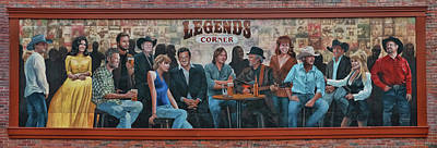 Photograph - Legend's Corner Mural - Nashville  by Allen Beatty