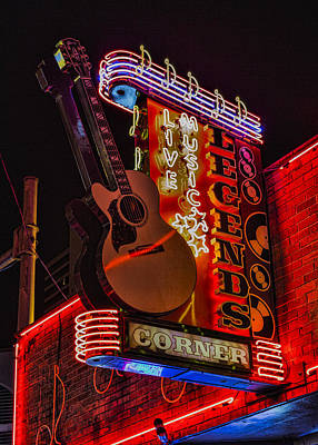 Nashville Sign Photograph - Legends Corner Nashville by Stephen Stookey