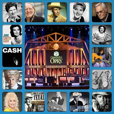 Photograph - Legends Of Country Music by John S