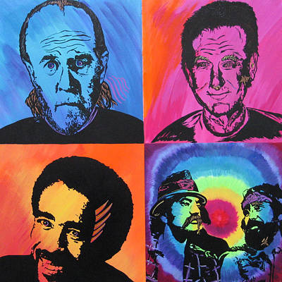 Acryllic Painting - Legends Of Laughter by Bill Manson