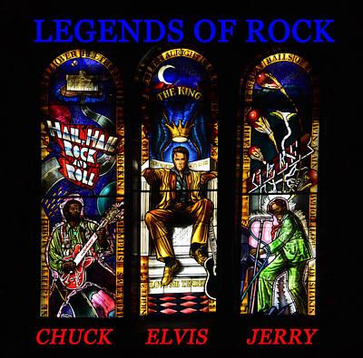 Legends Of Rock Art Print by David Lee Thompson