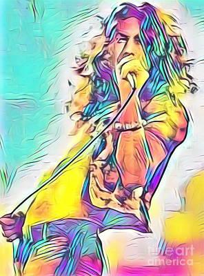 Legends Of Rock - Robert Plant - Ten Years Gone Art Print