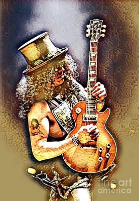 Legends Of Rock - Slash - Sweet Child Art Print