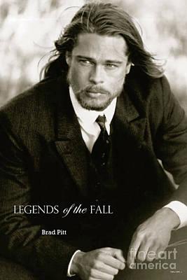 St. Louis Cardinals Mixed Media - Legends Of The Fall, Brad Pitt by Thomas Pollart