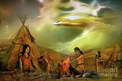 Digital Art - Legends Of The Sky People  by Shadowlea Is