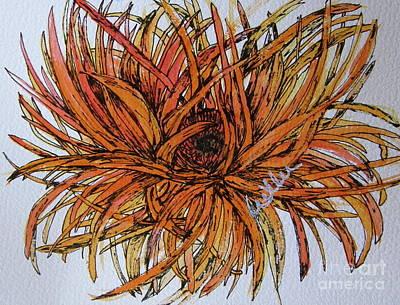 Daisy Drawing - Leggy Gerber by Marcia Weller-Wenbert
